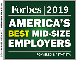 Forbes 2018 Americas best mid-size employers